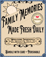 Family Memories Blue