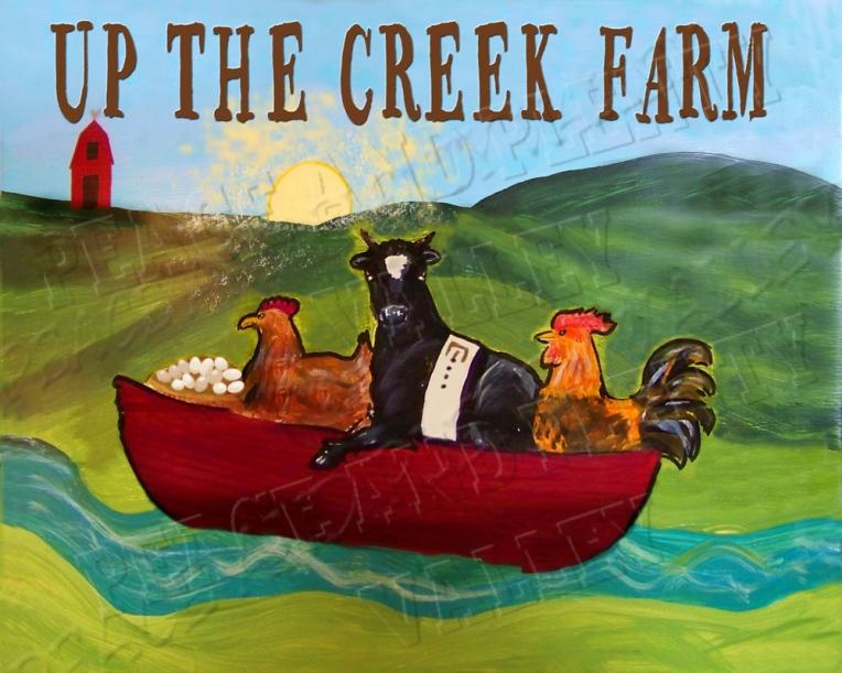 farm sign cows galway chickens folk art