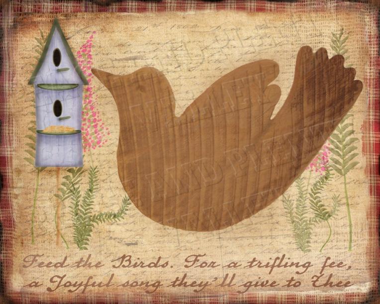 Happybird garden folk art
