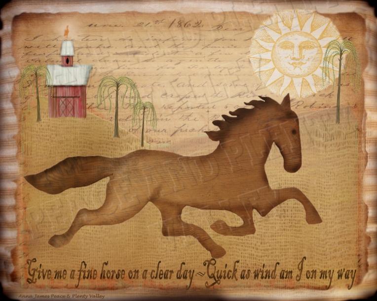 Horse Folk Art Historic