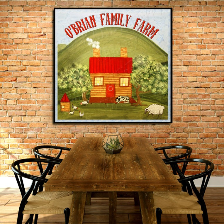 personalized family farm country sign