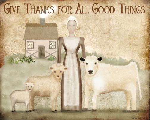 thanksgiving folk art printable
