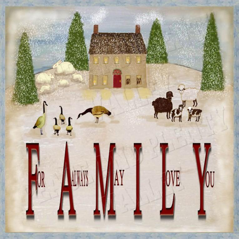 Winter christmas Family