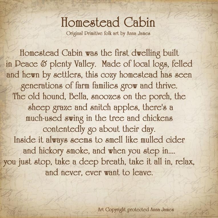 Homestead cabin Story