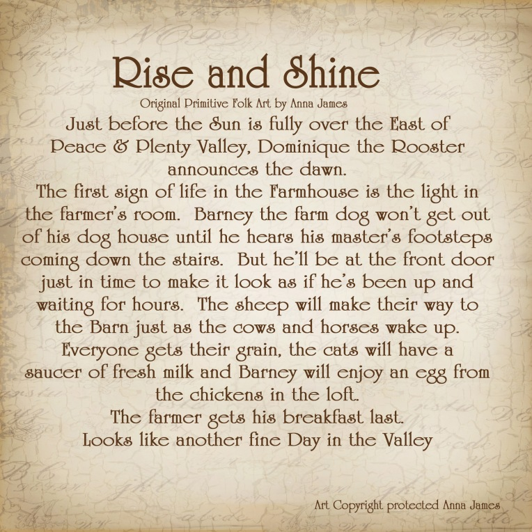 Rise and shine story