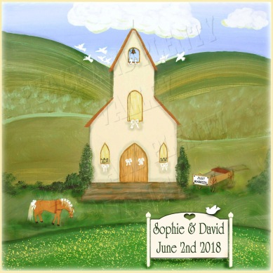 Country Wedding personalizable sign