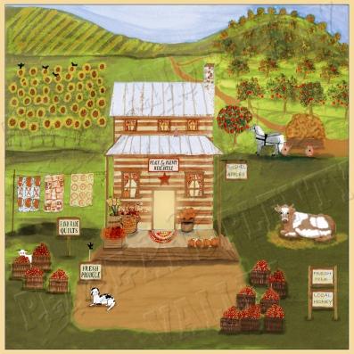 Peace and Plenty Mercantile primitive folk art country store